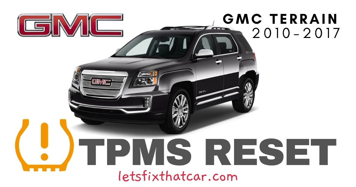 TPMS Reset-GMC Terrain 2010-2017 Tire Pressure Sensor