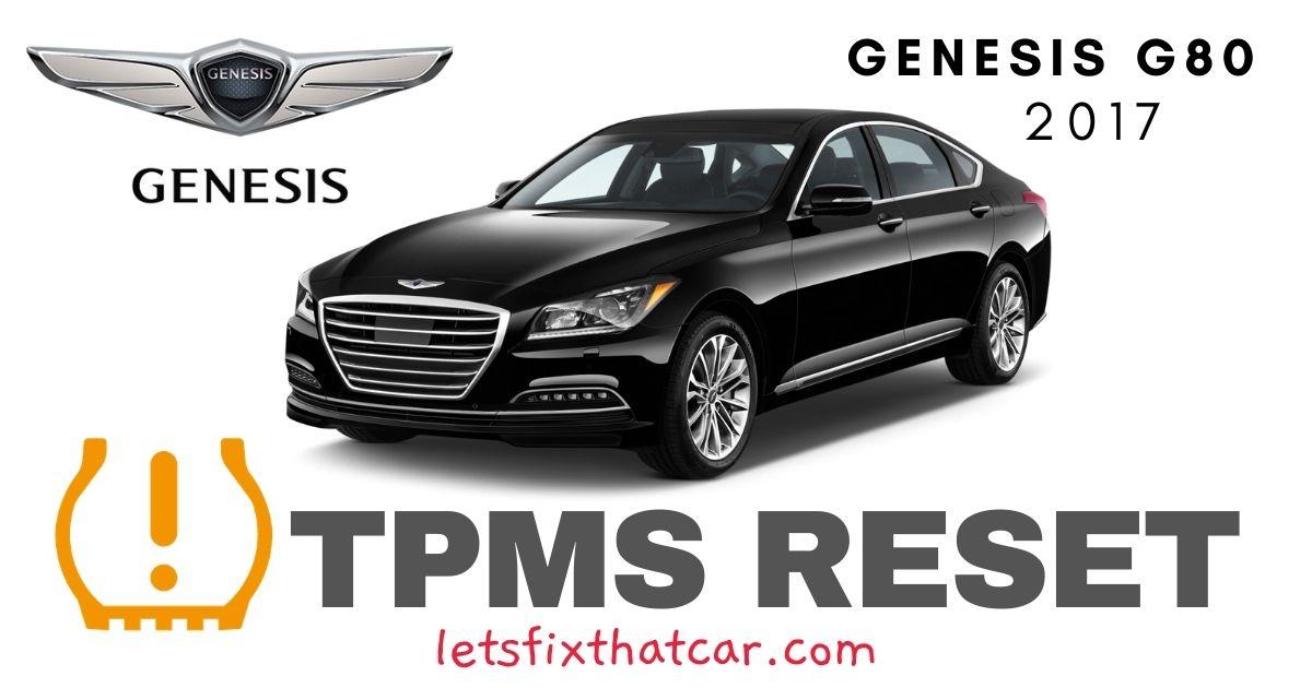 TPMS Reset-Genesis G80 2017 Tire Pressure Sensor