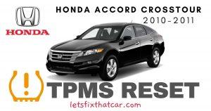 TPMS Reset-Honda Accord Crosstour 2010-2011 Tire Pressure Sensor