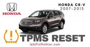 TPMS Reset-Honda CR-V 2007-2013 Tire Pressure Sensor