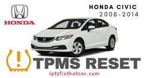 TPMS Reset-Honda Civic 2008-2014 Tire Pressure Sensor
