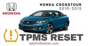 TPMS Reset-Honda Crosstour 2010-2015 Tire Pressure Sensor