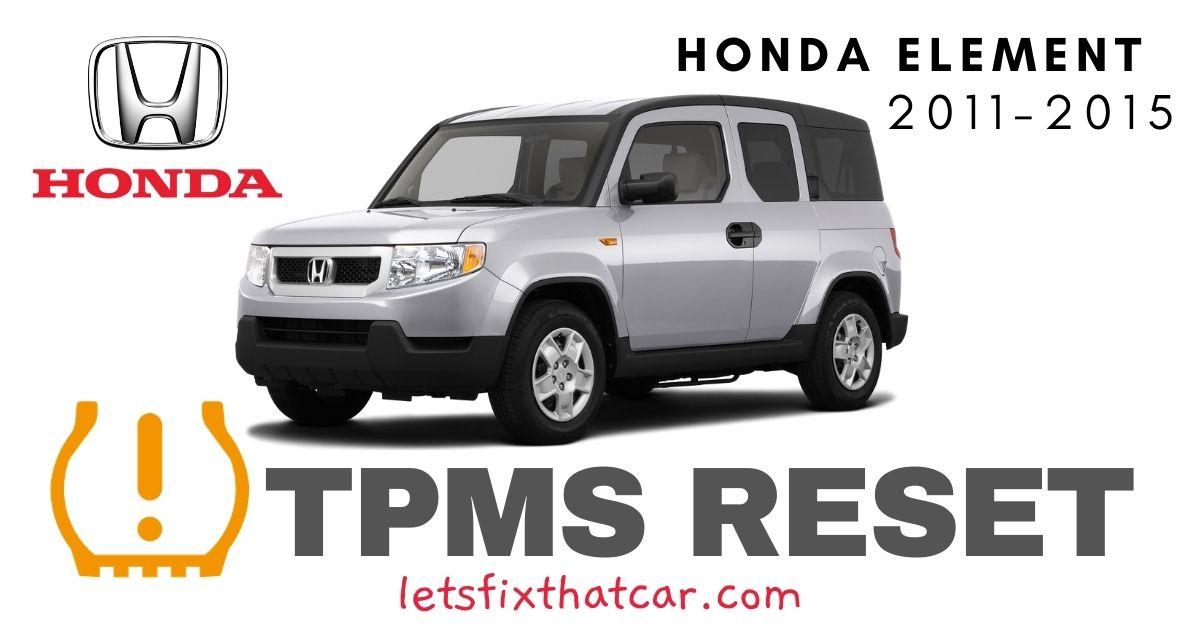 TPMS Reset-Honda Element 2006-2011 Tire Pressure Sensor