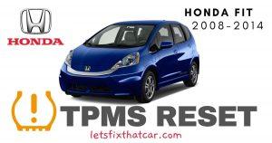 TPMS Reset-Honda Fit 2008-2014 Tire Pressure Sensor