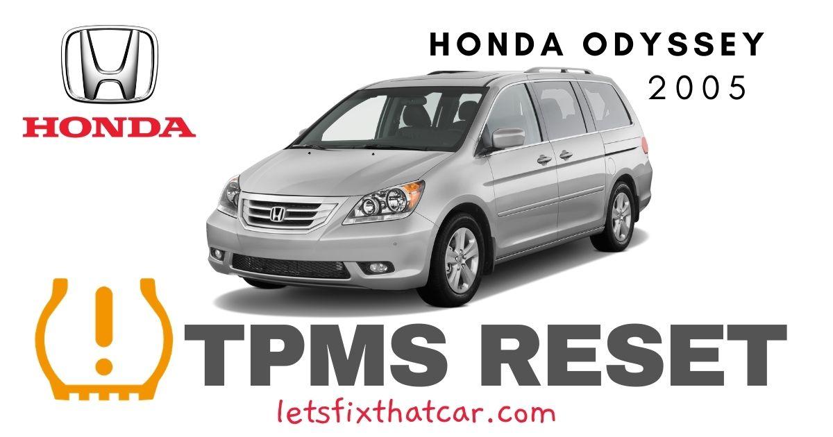 TPMS Reset-Honda Odyssey 2005 Tire Pressure Sensor