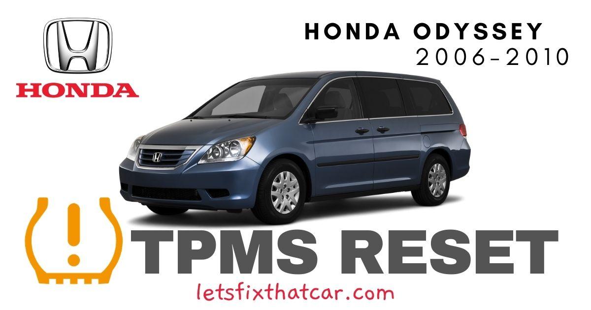 TPMS Reset-Honda Odyssey 2006-2010 Tire Pressure Sensor