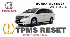 TPMS Reset-Honda Odyssey 2011-2016 Tire Pressure Sensor