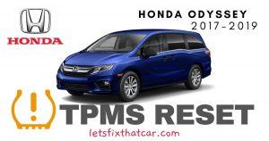 TPMS Reset-Honda Odyssey 2017-2019 Tire Pressure Sensor
