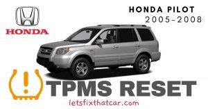 TPMS Reset-Honda Pilot 2005-2008 Tire Pressure Sensor