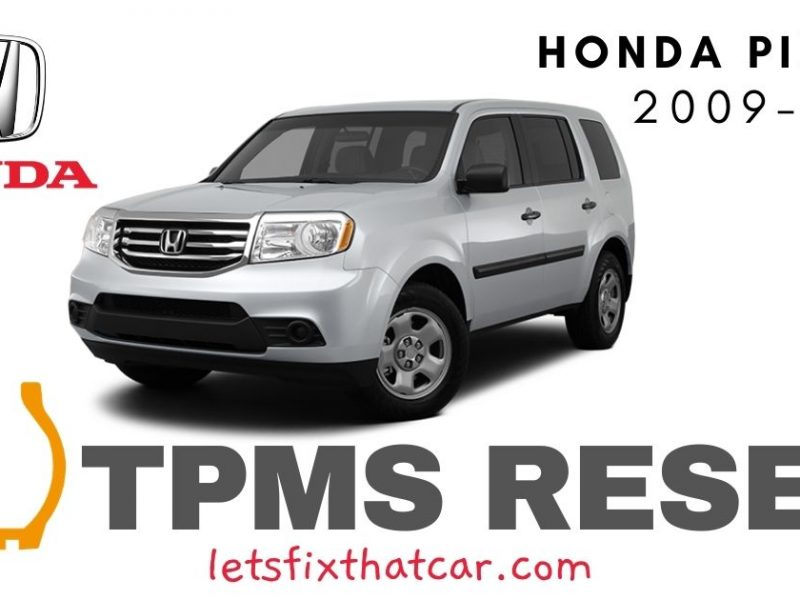 TPMS Reset-Honda Pilot 2009-2015 Tire Pressure Sensor