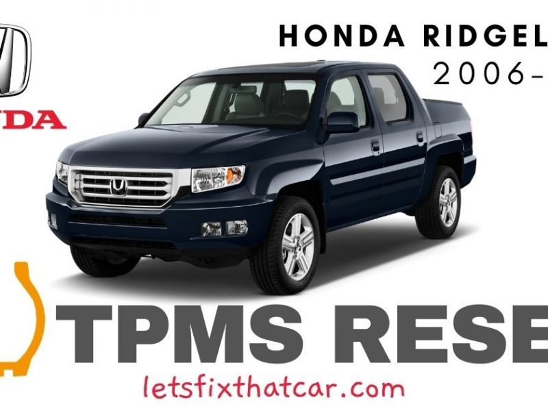 TPMS Reset-Honda Ridgeline 2006-2014 Tire Pressure Sensor