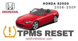 TPMS Reset-Honda S2000 2008-2009 Tire Pressure Sensor