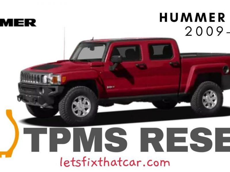 TPMS Reset-Hummer H3T 2009-2010 Tire Pressure Sensor