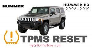 TPMS Reset-Hummer H3 2006-2010 Tire Pressure Sensor