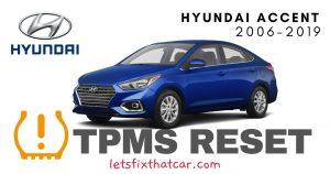 TPMS Reset-Hyundai Accent 2006-2019 Tire Pressure Sensor