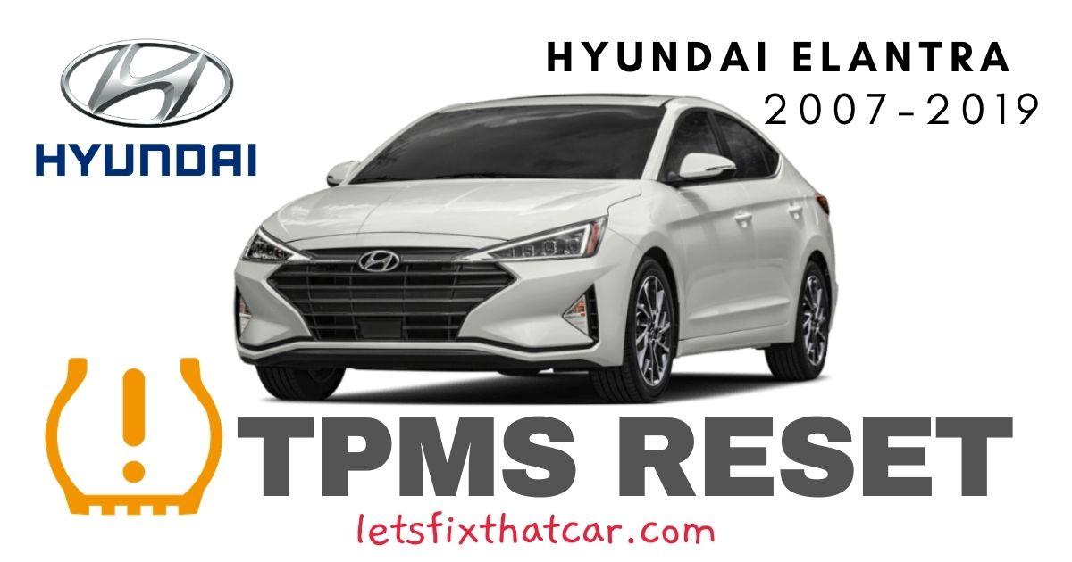 TPMS Reset-Hyundai Elantra 2007-2019 Tire Pressure Sensor