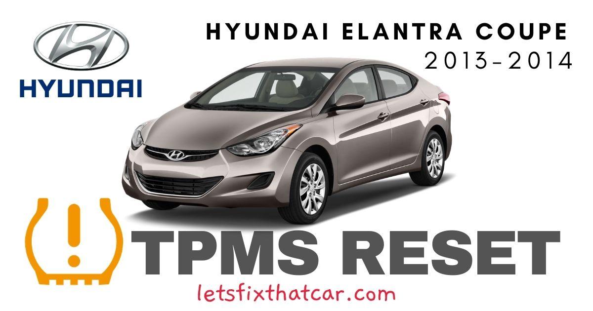 TPMS Reset-Hyundai Elantra Coupe 2013-2014 Tire Pressure Sensor