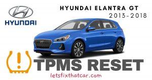 TPMS Reset-Hyundai Elantra GT 2013-2018 Tire Pressure Sensor
