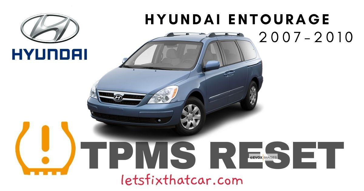 TPMS Reset-Hyundai Entourage 2007-2010 Tire Pressure Sensor