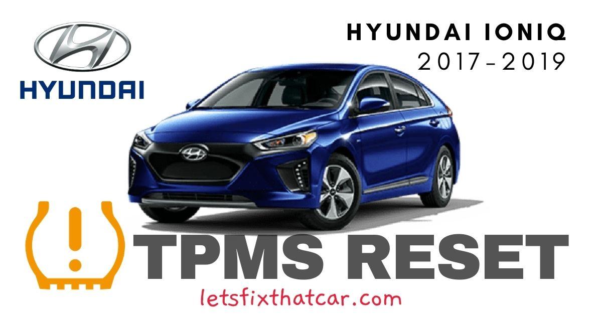 TPMS Reset-Hyundai Ioniq 2017-2019 Tire Pressure Sensor