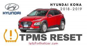 TPMS Reset-Hyundai Kona 2018-2019 Tire Pressure Sensor