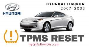 TPMS Reset-Hyundai Tiburon 2007-2008 Tire Pressure Sensor