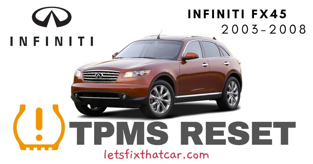 TPMS Reset-Infiniti FX45 2003-2008 Tire Pressure Sensor