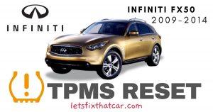 TPMS Reset-Infiniti FX50 2009-2014 Tire Pressure Sensor