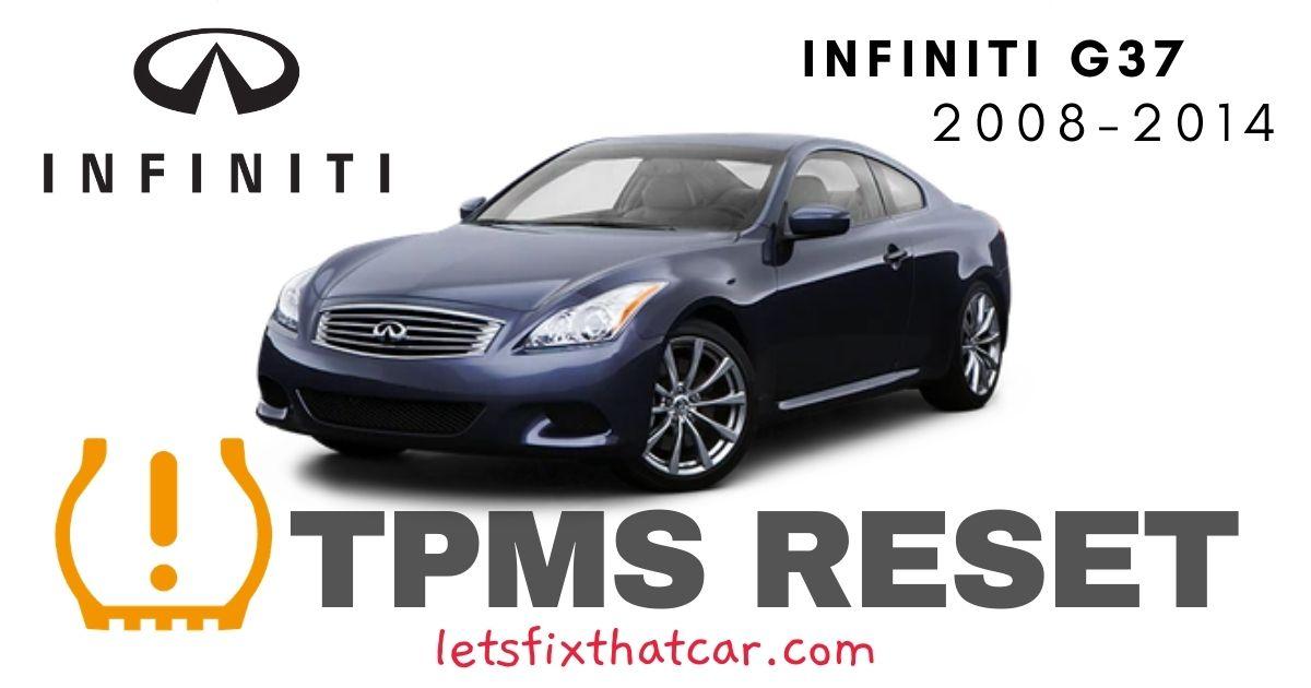 TPMS Reset-Infiniti G37 2008-2014 Tire Pressure Sensor