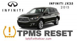 TPMS Reset-Infiniti JX35 2013 Tire Pressure Sensor