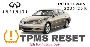TPMS Reset-Infiniti M35 2006-2010 Tire Pressure Sensor