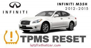 TPMS Reset-Infiniti M35h 2012-2013 Tire Pressure Sensor