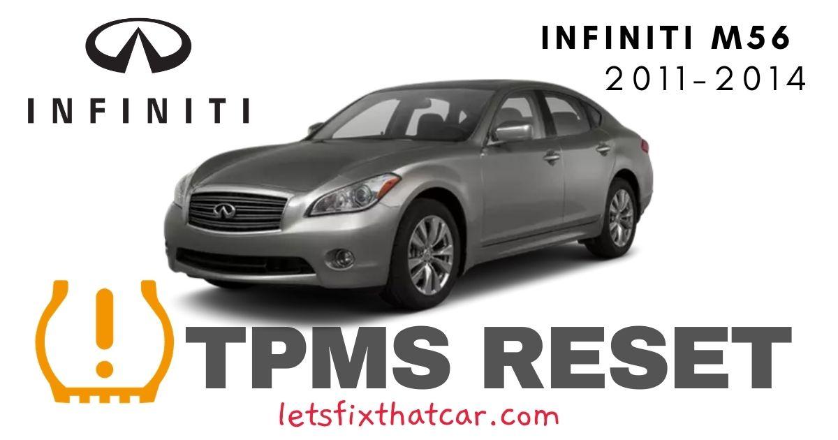 TPMS Reset-Infiniti M56 2011-2014 Tire Pressure Sensor