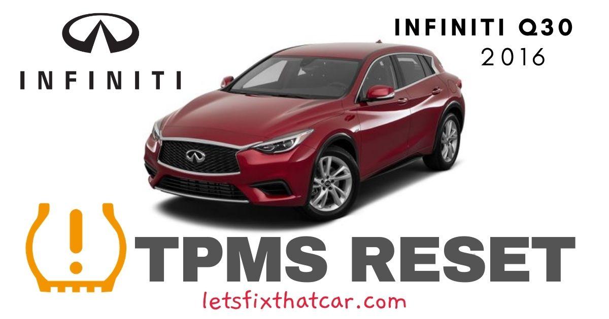 TPMS Reset-Infiniti Q30 2016 Tire Pressure Sensor