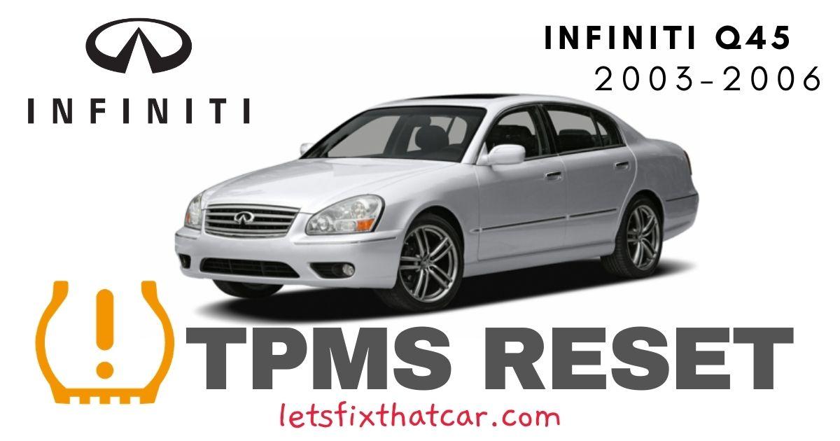 TPMS Reset-Infiniti Q45 2003-2006 Tire Pressure Sensor