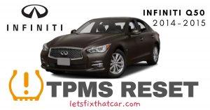 TPMS Reset-Infiniti Q50 2014-2015 Tire Pressure Sensor