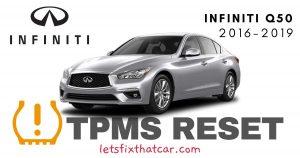TPMS Reset-Infiniti Q50 2016-2019 Tire Pressure Sensor