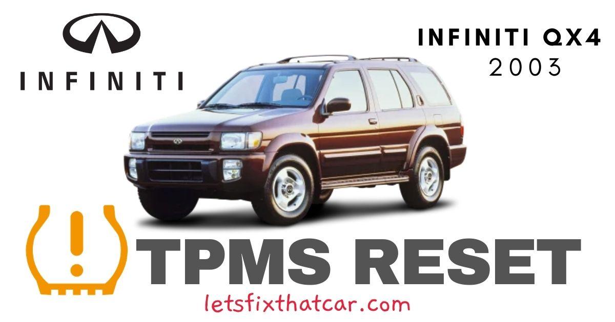 TPMS Reset-Infiniti QX4 2003 Tire Pressure Sensor