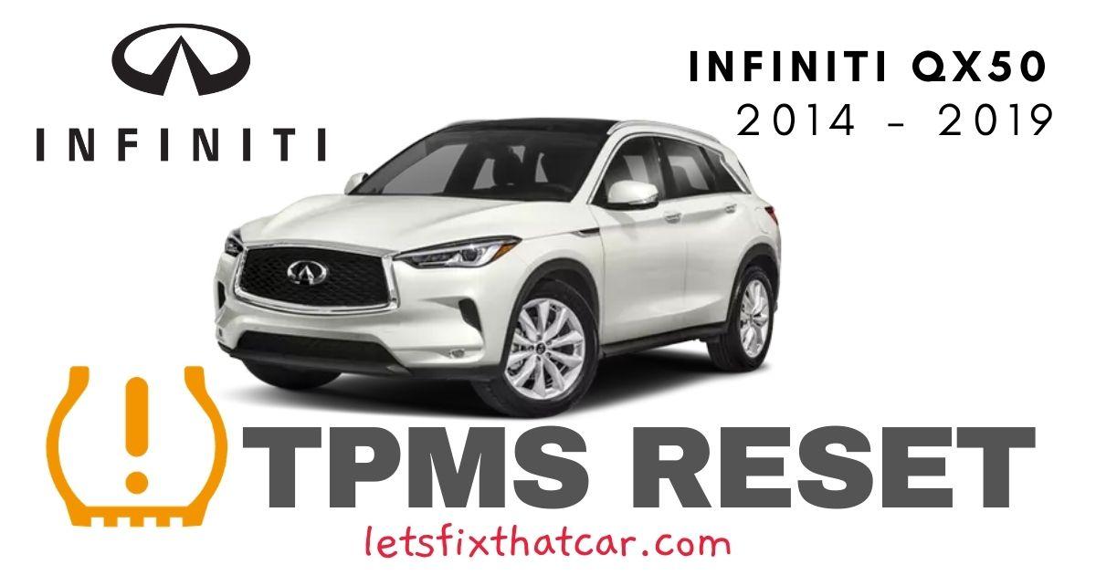 TPMS Reset-Infiniti QX50 2014-2019 Tire Pressure Sensor