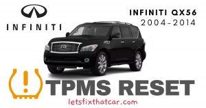 TPMS Reset-Infiniti QX56 2004-2014 Tire Pressure Sensor