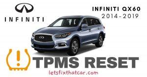 TPMS Reset-Infiniti QX60 2014-2019 Tire Pressure Sensor