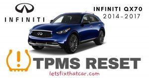 TPMS Reset-Infiniti QX70 2014-2017 Tire Pressure Sensor