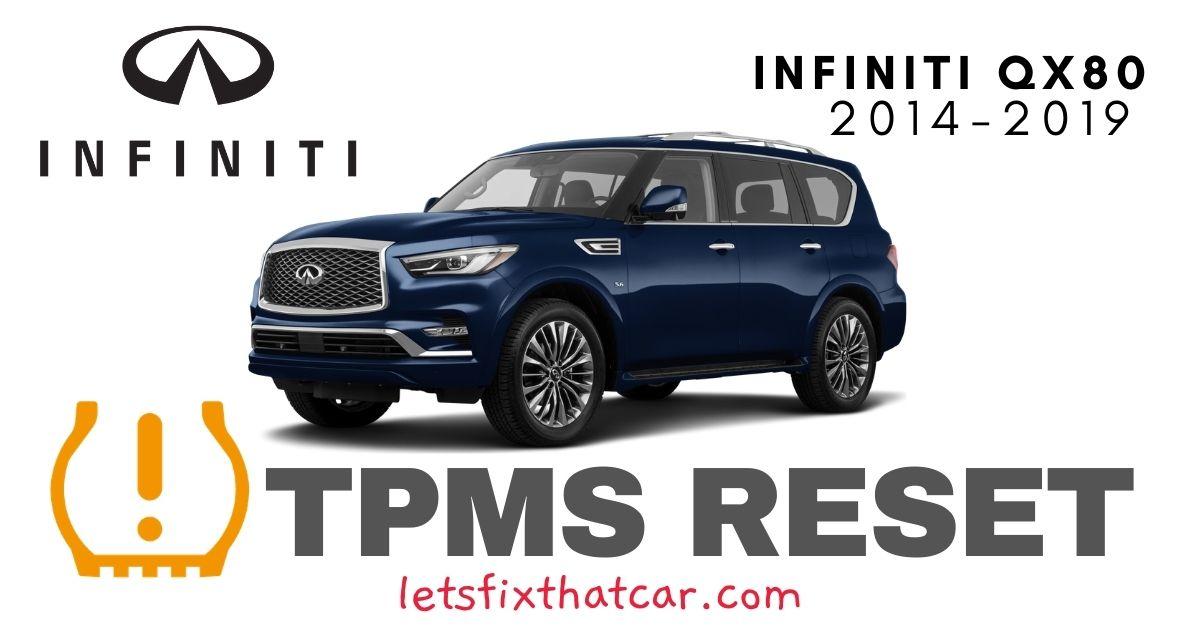 TPMS Reset-Infiniti QX80 2014-2019 Tire Pressure Sensor