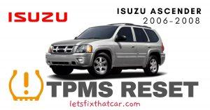TPMS Reset-Isuzu Ascender 2006-2008 Tire Pressure Sensor