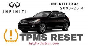 TPMS Reset-Infiniti EX35 2008-2014 Tire Pressure Sensor