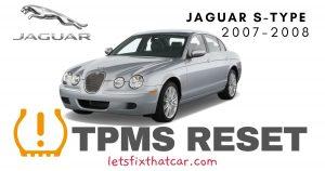 TPMS Reset-Jaguar S-Type 2007-2008 Tire Pressure Sensor