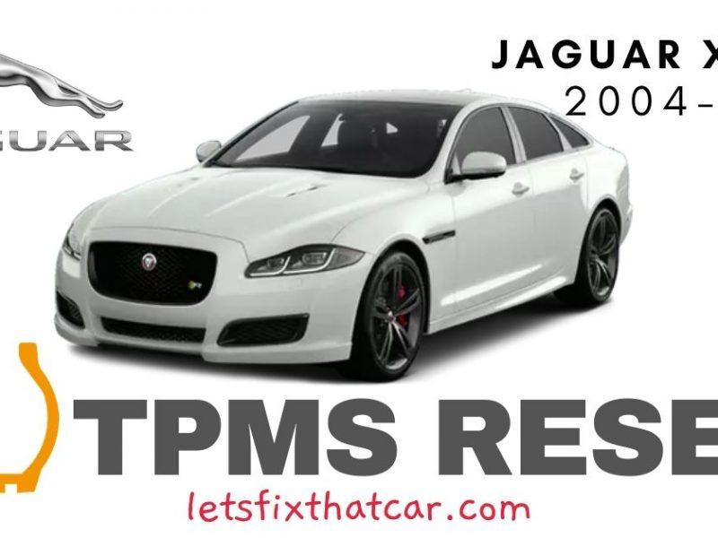 TPMS Reset- Jaguar XJ 2004-2016 Tire Pressure Sensor