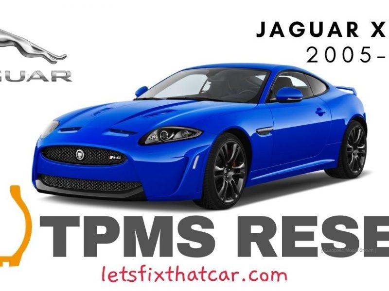 TPMS Reset-Jaguar XKR 2005-2015 Tire Pressure Sensor