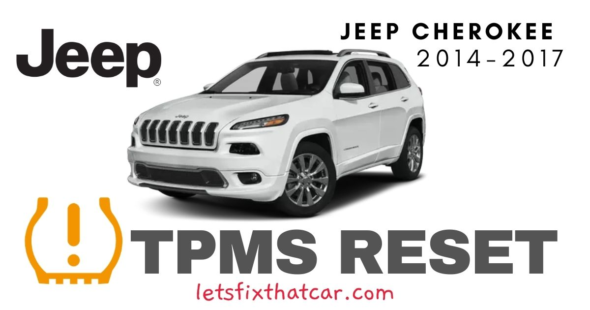 TPMS Reset-Jeep Cherokee 2014-2017 Tire Pressure Sensor