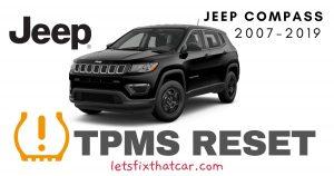TPMS Reset-Jeep Compass 2007-2019 Tire Pressure Sensor
